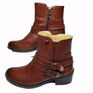 Bussola Rust Brown Antwerpen Leather Bootie
